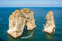 The Pigeon Rocks at Raouche, Beirut, Lebanon