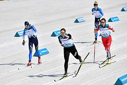 LIASHENKO Liudmyla UKR LW8, BRATIUK Natalia NPA LW8, HUDAK Brittany CAN LW8, KONASHUK Bohdana UKR LW8 competing in the ParaSkiDeFond, Para Nordic Skiing, Sprint at  the PyeongChang2018 Winter Paralympic Games, South Korea.