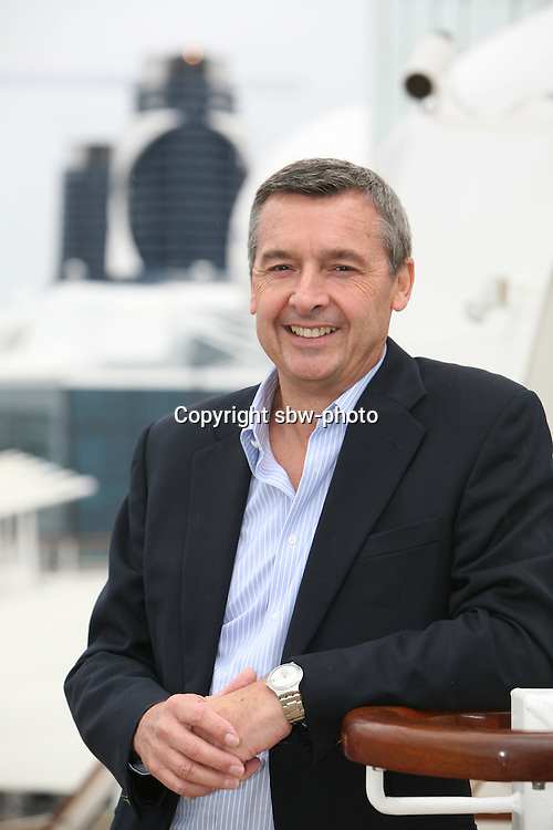 Celebrity Silhouette. Celebrity cruises' new ship launched in Hamburg 21st July 2011..Staff photos..Michael Bailey, SVP international...