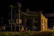 Night time at the old Power House building at Evanston, WY.