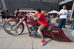 Custom bike show at the Harley-Davidson Museum, which was one of the official venues for the Milwaukee Rally. Milwaukee, WI, USA. Sunday, September 4, 2016. Photography ©2016 Michael Lichter.