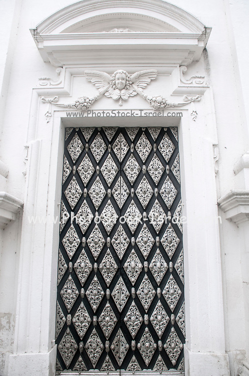 close up of a door at St. Stephan's Cathedral, Passau, Bavaria, Germany