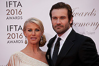 Francesca Standen and actor Clive Standen at the IFTA Film & Drama Awards (The Irish Film & Television Academy) at the Mansion House in Dublin, Ireland, Saturday 9th April 2016. Photographer: Doreen Kennedy