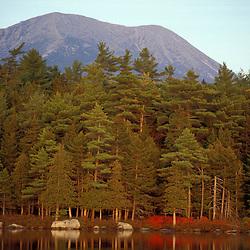 Baxter State Park, ME. Mt. Katahdin from Daicey Pond. Appalachian Trail.