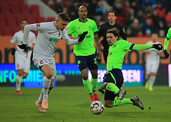 15.12.2018, 1.BL, FCA vs Schalke 04, WWK Arena Augsburg, Fussball, Sport, im Bild:..Alfred Finnbogason (FC Augsburg) vs Benajamin Stambouli (Schalke 04)..DFL REGULATIONS PROHIBIT ANY USE OF PHOTOGRAPHS AS IMAGE SEQUENCES AND / OR QUASI VIDEO...Copyright: Philippe Ruiz..Tel: 089 745 82 22.Handy: 0177 29 39 408.e-Mail: philippe_ruiz@gmx.de. (Credit Image: © Philippe Ruiz/Xinhua via ZUMA Wire)