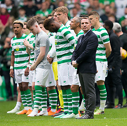 Celtic manager Brendan Rodgers during the testimonial match at Celtic Park, Glasgow.