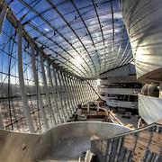 The grand lobby at the Kauffman Center, Brandmeyer Great Hall - still under construction.