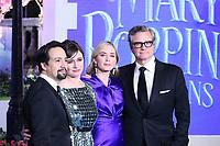 Lin-Manuel Miranda, Emily Mortimer, Emily Blunt, Colin Firth, Mary Poppins Returns European Premiere, Royal Albert Hall, Kensington Gore, London, UK, 12 December 2018, Photo by Richard Goldschmidt