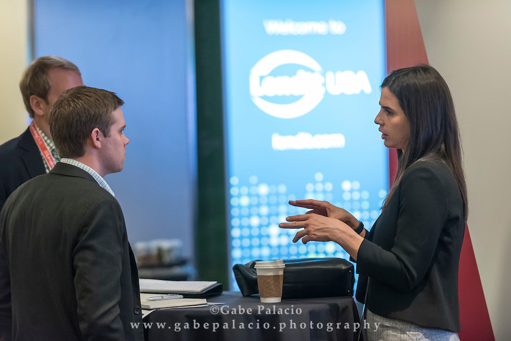 Attendees networking at the LendIt USA 2016 conference in San Francisco, California, USA on April 11, 2016. (photo by Gabe Palacio)