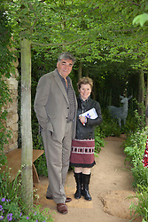 © Licensed to London News Pictures. 21/05/2012. London, England. Jim Carter with his wife Imelda Staunton. RHS Celsea Flower Show 2012 - Press Day. Photo credit: Bettina Strenske/LNP