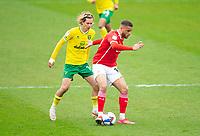Football - 2020 / 2021 Sky Bet Championship - Barnsley vs Norwich City - Oakwell<br /> <br /> Carlton Morris of Barnsley vies with Todd Cantwell of Norwich City<br /> <br /> Credit :COLORSPORT/BRUCE WHITE