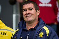Burton Albion manager Nigel Clough during the EFL Sky Bet Championship match between Burton Albion and Wolverhampton Wanderers at the Pirelli Stadium, Burton upon Trent, England on 30 September 2017. Photo by Richard Holmes.
