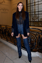 Irina Shayk attending the Jean-Paul Gaultier Haute Couture Spring-Summer 2019 show as part of Paris Fashion Week in Paris, France on January 23, 2019. Photo by Aurore Marechal/ABACAPRESS.COM