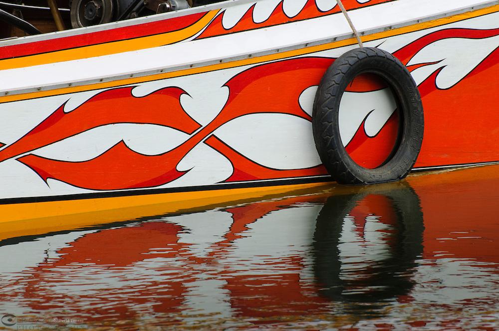 Detail of long tailed boat, Kanchanaburi, Thailand