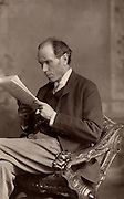 James Payn (1830-1898) English writer and poet, author of 100 novels of which the most successful were 'Lost Sir Massingbird (1864) and 'By Proxy' (1878).  Editor of 'Chamber's Journal' (1859-1874) and the 'Cornhill Magazine' (1882-1896). From 'The Cabinet Portrait Gallery' (London, 1890-1894).  Woodburytype after photograph by W & D Downey.