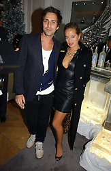 JADE JAGGER and DAN WILLIAMS at Garrard's Winter Wonderland party held at their store 24 Albermarle Street, London W1 on 30th November 2006.<br /><br /><br />NON EXCLUSIVE - WORLD RIGHTS