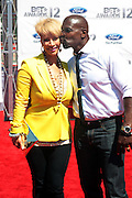 June 30, 2012-Los Angeles, CA : (L-R) Rebecca King-Crews and Actor Terry Crews attend the 2012 BET Awards held at the Shrine Auditorium on July 1, 2012 in Los Angeles. The BET Awards were established in 2001 by the Black Entertainment Television network to celebrate African Americans and other minorities in music, acting, sports, and other fields of entertainment over the past year. The awards are presented annually, and they are broadcast live on BET. (Photo by Terrence Jennings)