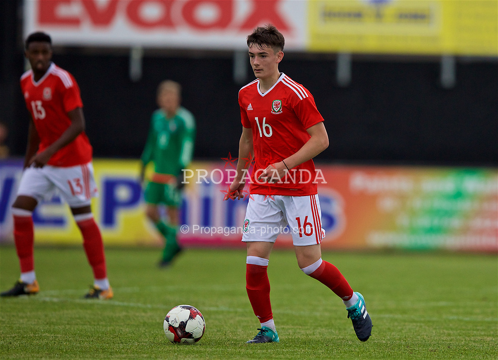 RHYL, WALES - Monday, September 4, 2017: Wales' Dylan Levitt during an Under-19 international friendly match between Wales and Iceland at Belle Vue. (Pic by Paul Greenwood/Propaganda)