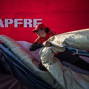 Leg Zero, Prologue, day 2  on-board MAPFRE. Photo by Jen Edney/MAPFRE/Volvo Ocean Race. 09 October, 2017. Etapa prologo. dia 2 a bordo MAPFRE.