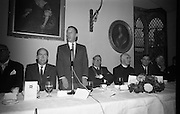 Opening of Kilkenny Design Workshop. W.M. Walshe, chairman, addressing the gathering..15.11.1965