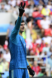 June 23, 2018 - Moscou, Russie - MOSCOW, RUSSIA - JUNE 23 :  Thibaut Courtois goalkeeper of Belgium pictured during the FIFA 2018 World Cup Russia group G phase match between Belgium and Tunisia at the Spartak Stadium on June 23, 2018 in Moscow, Russia, 23/06/2018 (Credit Image: © Panoramic via ZUMA Press)