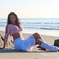 """Beautiful April at Garden City Beach Pier Sunrise photography session with April.  Celebrate """"YOU"""" with a Fun and Sassy  photography session to show your sexy self!"""