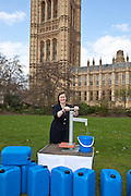 Meg Hillier MP. Marking World Water Day, over 40 MP's walked for water at Westminster, London at an event organised by WaterAid and Tearfund. Globally hundreds of thousands of people took part in the campaign to raise awareness of the world water crisis.