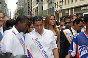 13 June 2010-New York, NY- l to r: State Senator Malcom Smith, Governor David Patterson, Jennifer Lopez and Mark Anthony, King of the Parade at the 2010 Puerto Rican Day Parade held along Fifth Ave from West 44th to West 79th Streets. Crowds estimated up to 2 million enjoyed the music, people and float that lined the Parade route.