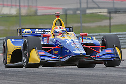 March 23, 2019 - Austin, TX, U.S. - AUSTIN, TX - MARCH 23: Alexander Rossi (27) of Andretti Autosport driving a Honda lifts his left front tire off the track as he enters a hard left turn during the IndyCar morning practice at Circuit of the Americas on March 23, 2019 in Austin, Texas. (Photo by Ken Murray/Icon Sportswire) (Credit Image: © Ken Murray/Icon SMI via ZUMA Press)