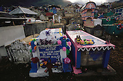 Cemetery on the Day of the Dead in Todos Santos de  Cuchumatan, Guatemala.
