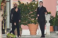 King Felipe VI of Spain, Queen Letizia of Spain. Fernando Gomez-Acebo attends Princess PIlar Borbon funeral chapel  installed in the Gomez-Acebo house on January 8, 2020 in Madrid, Spain