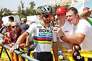 Peter Sagan (SVK - Bora - Hansgrohe) fans, selfie , during the UCI World Tour, Tour of Spain (Vuelta) 2018, Stage 3, Mijas - Alhaurin de la Torre 178,2 km in Spain, on August 27th, 2018 - Photo Luca Bettini / BettiniPhoto / ProSportsImages / DPPI