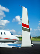 Winglet on a Learjet 45, photographed on the Southern Company ramp at Dekalb Peachtree Airport (PDK), in Atlanta, Georgia.  <br />