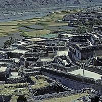 NEPAL, Himalaya. Marpha, an ancient trading village on salt trading route through Kali Gandaki gorge between Annapurna & Dhaulagiri.