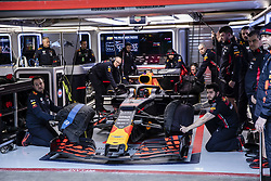 February 18, 2019 - Barcelona, Barcelona, Spain - Max Verstappen from Nederland with 33 Aston Martin Red Bull Racing - Honda RB15 at box during the Formula 1 2019 Pre-Season Tests at Circuit de Barcelona - Catalunya in Montmelo, Spain on February 18. (Credit Image: © Xavier Bonilla/NurPhoto via ZUMA Press)