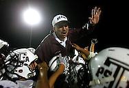Pharr, TX - 7 Nov 2008 - .The PSJA Bears lift Head Coach Mel Rios on their shoulders after defeating the PSJA North Raiders on Friday night..Photo by Alex Jones / ajones@themonitor.com