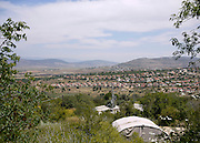 Israel, Galilee, Zippori National Park overlooking modern day Zippori