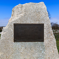 The monument that recognizes Clara Barton's service during the Battle of Antietam.