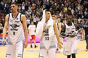 DESCRIZIONE: Milano Lega A 2014-15 <br /> EA7 Emporio Armani Granarolo Bologna<br /> GIOCATORE: Cuccarolo Gino - Fontecchio Simone - Jeremy Hazell<br /> CATEGORIA: postgame - delusione<br /> SQUADRA: <br /> EVENTO: Play-off quarti di finale gara 2 2014-2015<br /> GARA: EA7 Emporio Armani Granarolo Bologna<br /> DATA: 20/05/2015<br /> SPORT: Pallacanestro<br /> AUTORE: Agenzia Ciamillo-Castoria/A. Ossola<br /> Galleria: Lega Basket A 2014-2015<br /> Fotonotizia: Milano Lega A 2014-15 <br /> EA7 Emporio Armani Granarolo Bologna