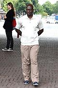 Canadese topsprinter Ben Johnson in het Olympisch Stadion, Amsterdam.Extra interessant vanwege het hertesten van dopingmonsters van de Spelen in Peking en Londen.  In het weekend van Johnsons bezoek is de 100 meter sprint (mannen) in Rio en presenteert hij zijn boek De Outsider.<br /> <br /> Canadian sprinter Ben Johnson in the Olympic Stadium,Amsterdam.Extra interesting because the retest doping samples from the Beijing Games and London. During the weekend of Johnsons visit the 100-meter sprint (men) in Rio and he presents his book The Outsider.