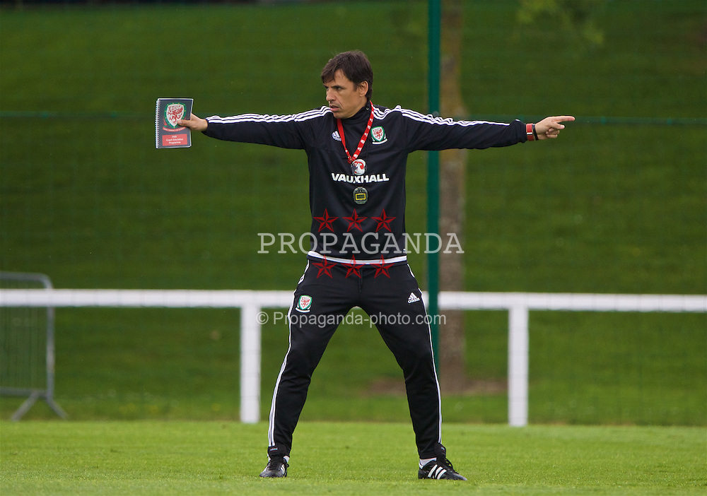 DINARD, FRANCE - Monday, July 4, 2016: Wales' manager Chris Coleman during a training session at their base in Dinard as they prepare for the Semi-Final match against Portugal during the UEFA Euro 2016 Championship. (Pic by David Rawcliffe/Propaganda)