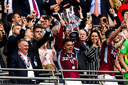 Jack Grealish of Aston Villa lift the Sky Bet Championship Playoff Final Trophy after winning promotion to the Premier League - Mandatory by-line: Robbie Stephenson/JMP - 27/05/2019 - FOOTBALL - Wembley Stadium - London, England - Aston Villa v Derby County - Sky Bet Championship Play-off Final
