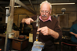 A 76 year old man still working in his own business as a crafstman making pocket knives in Sheffield