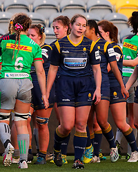 Roz Jermine of Worcester Warriors Women after the final whistle - Mandatory by-line: Nick Browning/JMP - 20/12/2020 - RUGBY - Sixways Stadium - Worcester, England - Worcester Warriors Women v Harlequins Women - Allianz Premier 15s