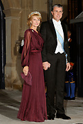 Gala dinner on the occasion of the civil wedding of Grand Duke Guillaume and Princess Stephanie at the Grand-Ducal palace in Luxembourg <br /> <br /> On the photo: Princess Margarita of Romania and husband, prince Radu
