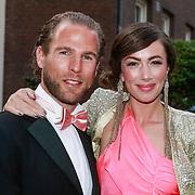 NLD/Amsterdam/20130501- Voque Queensball 2013, Dewi Pechler en partner Danny Menken