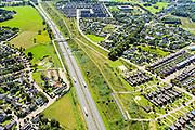 Nederland, Noord-Brabant, Breda, 23-08-2016; <br /> A27 ter hoogte van Bavel.<br /> Motorway A27.<br /> aerial photo (additional fee required); <br /> luchtfoto (toeslag op standard tarieven);<br /> copyright foto/photo Siebe Swart