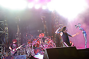 Korn performing at Mayhem Fest 2010 on July 20 at Verizon Wireless Amphitheater in St. Louis