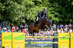 TEBBEL Maurice (GER), Don Diarado<br /> Hamburg - 90. Deutsches Spring- und Dressur Derby 2019<br /> LONGINES GLOBAL CHAMPIONS TOUR Grand Prix of Hamburg<br /> CSI5* Springprüfung mit Stechen <br /> Wertungsprüfung für die LGCT, 6. Etappe<br /> 01. Juni 2019<br /> © www.sportfotos-lafrentz.de/Stefan Lafrentz