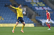 Oxford United forward James Henry (17) controls the ball during the EFL Sky Bet League 1 match between Oxford United and Swindon Town at the Kassam Stadium, Oxford, England on 28 November 2020.